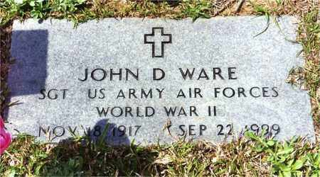 WARE (VETERAN WWII), JOHN D - Columbia County, Arkansas | JOHN D WARE (VETERAN WWII) - Arkansas Gravestone Photos