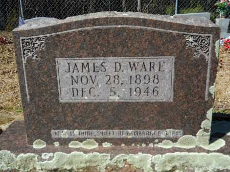 WARE, JAMES D - Columbia County, Arkansas | JAMES D WARE - Arkansas Gravestone Photos