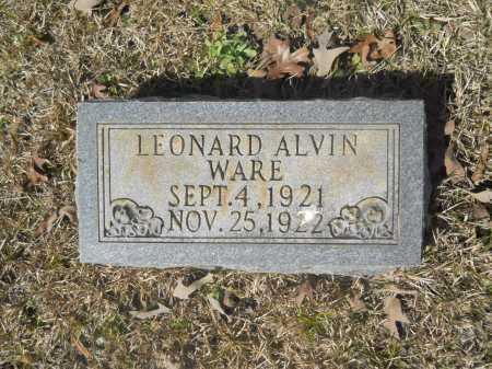 WARE, LEONARD ALVIN - Columbia County, Arkansas | LEONARD ALVIN WARE - Arkansas Gravestone Photos