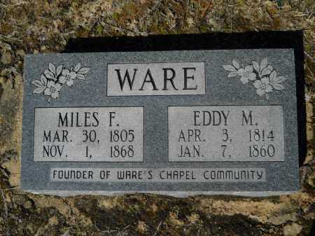 WARE, MILES FULLER - Columbia County, Arkansas | MILES FULLER WARE - Arkansas Gravestone Photos