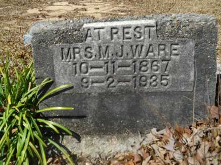 WARE, M J - Columbia County, Arkansas | M J WARE - Arkansas Gravestone Photos