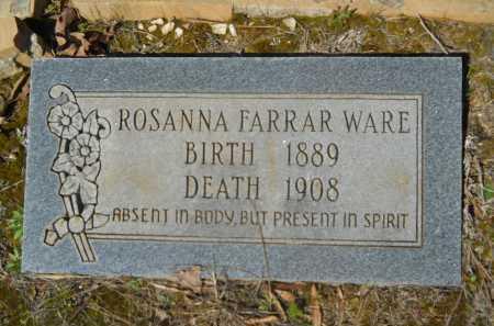 FARRAR WARE, ROSANNA - Columbia County, Arkansas | ROSANNA FARRAR WARE - Arkansas Gravestone Photos