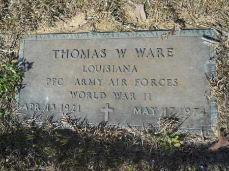 WARE (VETERAN WWII), THOMAS W - Columbia County, Arkansas | THOMAS W WARE (VETERAN WWII) - Arkansas Gravestone Photos