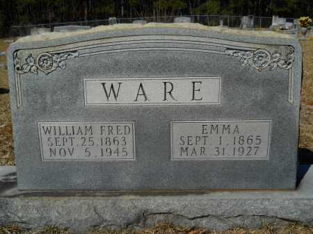 WARE, WILLIAM FRED - Columbia County, Arkansas | WILLIAM FRED WARE - Arkansas Gravestone Photos
