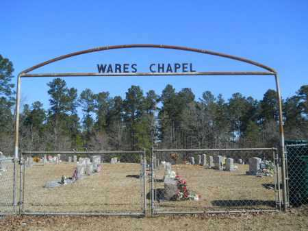 *WARES CHAPEL (GATE), CEMETERY - Columbia County, Arkansas | CEMETERY *WARES CHAPEL (GATE) - Arkansas Gravestone Photos