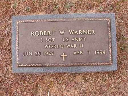 WARNER (VETERAN WWII), ROBERT W - Columbia County, Arkansas | ROBERT W WARNER (VETERAN WWII) - Arkansas Gravestone Photos