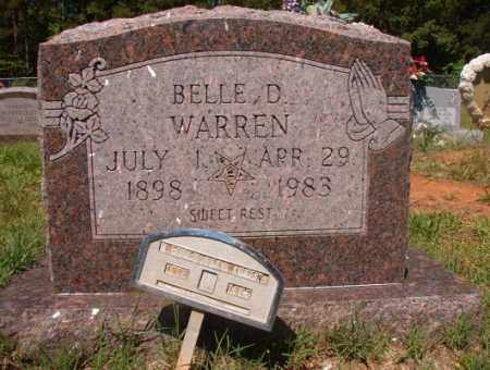 WARREN, BELLE D - Columbia County, Arkansas | BELLE D WARREN - Arkansas Gravestone Photos