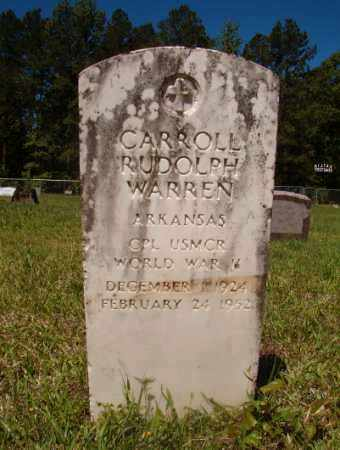WARREN (VETERAN WWII), CARROLL RUDOLPH - Columbia County, Arkansas | CARROLL RUDOLPH WARREN (VETERAN WWII) - Arkansas Gravestone Photos