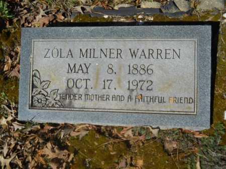 WARREN, ZOLA MILNER - Columbia County, Arkansas | ZOLA MILNER WARREN - Arkansas Gravestone Photos