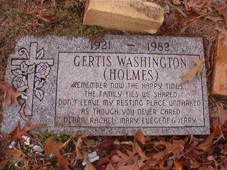 HOLMES WASHINGTON, GERTIS - Columbia County, Arkansas | GERTIS HOLMES WASHINGTON - Arkansas Gravestone Photos