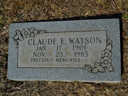 WATSON, CLAUDE E - Columbia County, Arkansas | CLAUDE E WATSON - Arkansas Gravestone Photos