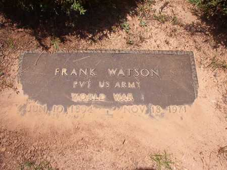 WATSON (VETERAN WWI), FRANK - Columbia County, Arkansas | FRANK WATSON (VETERAN WWI) - Arkansas Gravestone Photos