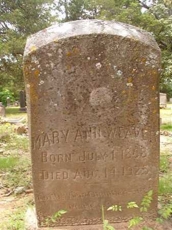 WEAVER, MARY ANN - Columbia County, Arkansas | MARY ANN WEAVER - Arkansas Gravestone Photos
