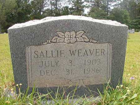 WEAVER, SALLIE - Columbia County, Arkansas | SALLIE WEAVER - Arkansas Gravestone Photos