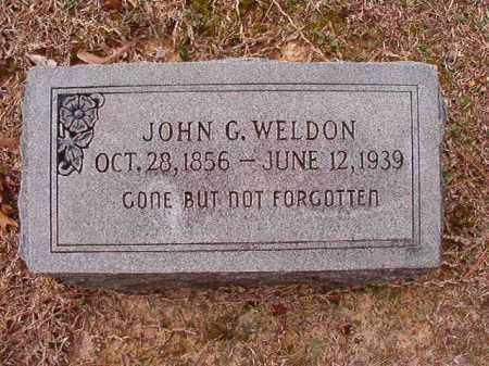 WELDON, JOHN G - Columbia County, Arkansas | JOHN G WELDON - Arkansas Gravestone Photos