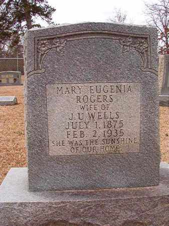 ROGERS WELLS, MARY EUGENIA - Columbia County, Arkansas | MARY EUGENIA ROGERS WELLS - Arkansas Gravestone Photos