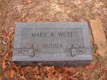 WEST, MARY A - Columbia County, Arkansas | MARY A WEST - Arkansas Gravestone Photos