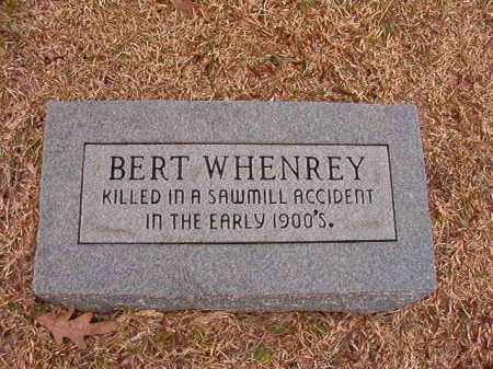 WHENREY, BERT - Columbia County, Arkansas | BERT WHENREY - Arkansas Gravestone Photos