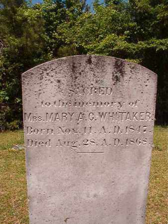 WHITAKER, MARY A C - Columbia County, Arkansas | MARY A C WHITAKER - Arkansas Gravestone Photos
