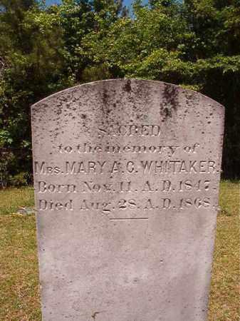 WHITAKER, MARY A C - Columbia County, Arkansas | MARY A C WHITAKER - Arkansas Gravestone Photos