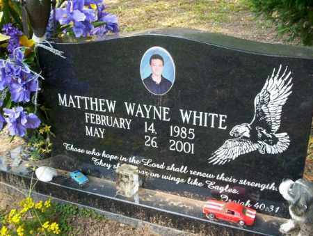 WHITE, MATTHEW WAYNE - Columbia County, Arkansas | MATTHEW WAYNE WHITE - Arkansas Gravestone Photos