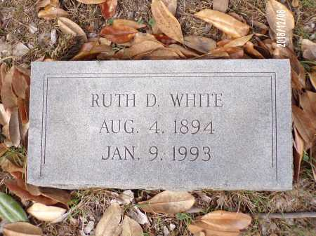 WHITE, RUTH D - Columbia County, Arkansas | RUTH D WHITE - Arkansas Gravestone Photos