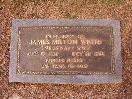 WHITE (VETERAN WWII), JAMES MILTON - Columbia County, Arkansas | JAMES MILTON WHITE (VETERAN WWII) - Arkansas Gravestone Photos