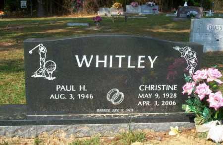 WHITLEY, CHRISTINE - Columbia County, Arkansas | CHRISTINE WHITLEY - Arkansas Gravestone Photos