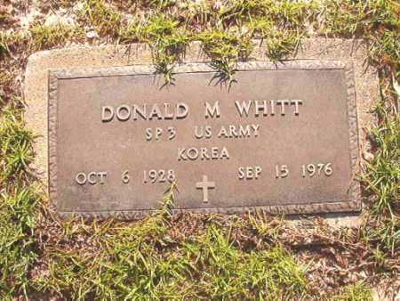 WHITT (VETERAN KOR), DONALD M - Columbia County, Arkansas | DONALD M WHITT (VETERAN KOR) - Arkansas Gravestone Photos