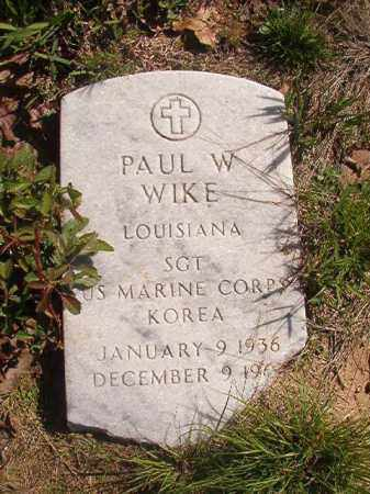 WIKE (VETERAN KOR), PAUL W - Columbia County, Arkansas | PAUL W WIKE (VETERAN KOR) - Arkansas Gravestone Photos