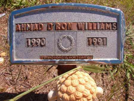 WILLIAMS, AHMAD D'RON - Columbia County, Arkansas | AHMAD D'RON WILLIAMS - Arkansas Gravestone Photos