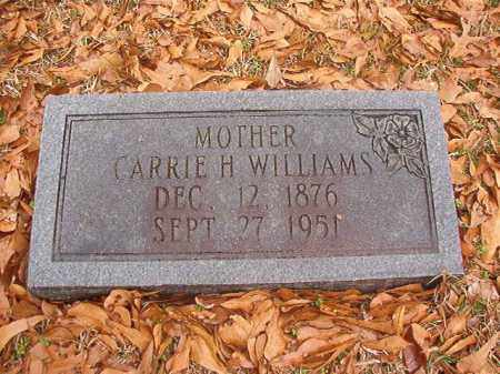 WILLIAMS, CARRIE H - Columbia County, Arkansas | CARRIE H WILLIAMS - Arkansas Gravestone Photos