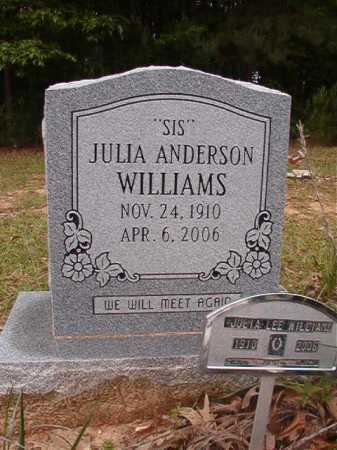 ANDERSON WILLIAMS, JULIA LEE - Columbia County, Arkansas | JULIA LEE ANDERSON WILLIAMS - Arkansas Gravestone Photos