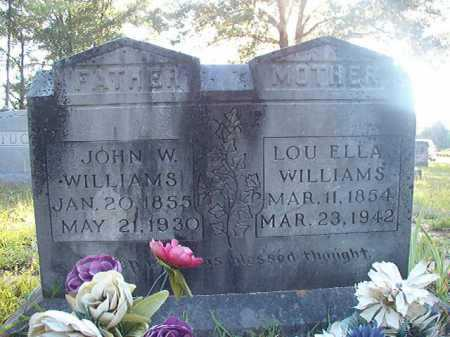WILLIAMS, JOHN W - Columbia County, Arkansas | JOHN W WILLIAMS - Arkansas Gravestone Photos
