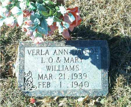 WILLIAMS, VERLA ANN - Columbia County, Arkansas | VERLA ANN WILLIAMS - Arkansas Gravestone Photos
