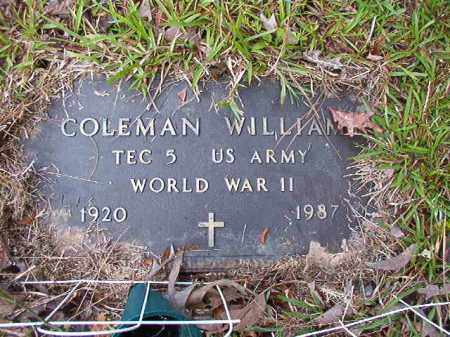 WILLIAMS (VETERAN WWII), COLEMAN - Columbia County, Arkansas | COLEMAN WILLIAMS (VETERAN WWII) - Arkansas Gravestone Photos