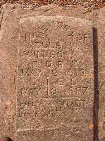 WILLSON, WELLS W - Columbia County, Arkansas | WELLS W WILLSON - Arkansas Gravestone Photos
