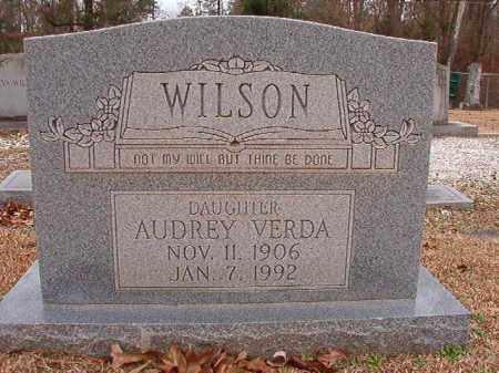 WILSON, AUDREY VERDA - Columbia County, Arkansas | AUDREY VERDA WILSON - Arkansas Gravestone Photos