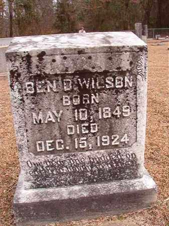 WILSON, BEN D - Columbia County, Arkansas | BEN D WILSON - Arkansas Gravestone Photos