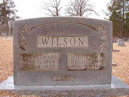 WILSON, JOHN EDWARD - Columbia County, Arkansas | JOHN EDWARD WILSON - Arkansas Gravestone Photos