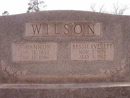 WILSON, J HANNON - Columbia County, Arkansas | J HANNON WILSON - Arkansas Gravestone Photos