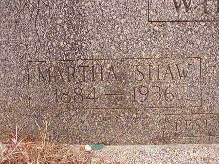 SHAW WILSON, MARTHA - Columbia County, Arkansas | MARTHA SHAW WILSON - Arkansas Gravestone Photos