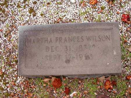 WILSON, MARTHA FRANCES - Columbia County, Arkansas | MARTHA FRANCES WILSON - Arkansas Gravestone Photos