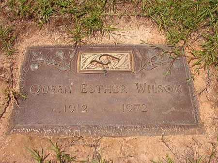 WILSON, QUEEN ESTHER - Columbia County, Arkansas | QUEEN ESTHER WILSON - Arkansas Gravestone Photos