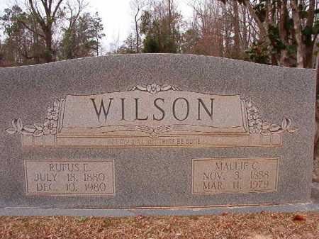 WILSON, RUFUS E - Columbia County, Arkansas | RUFUS E WILSON - Arkansas Gravestone Photos