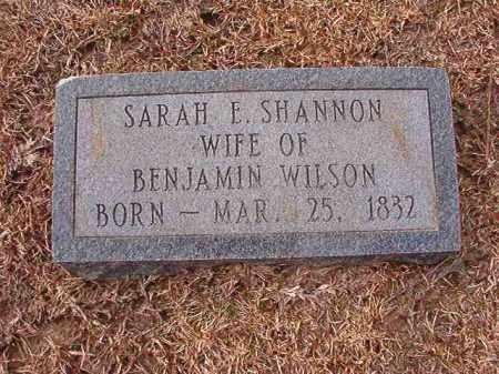 SHANNON WILSON, SARAH E - Columbia County, Arkansas | SARAH E SHANNON WILSON - Arkansas Gravestone Photos
