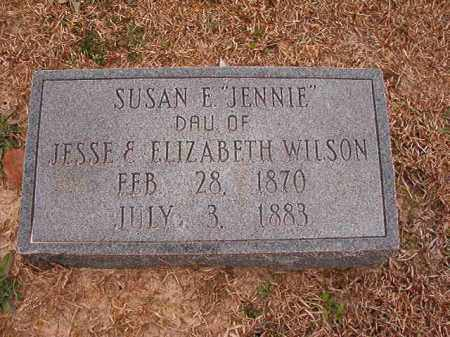 "WILSON, SUSAN E ""JENNIE"" - Columbia County, Arkansas | SUSAN E ""JENNIE"" WILSON - Arkansas Gravestone Photos"
