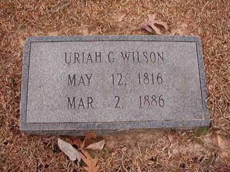 WILSON, URIAH G - Columbia County, Arkansas | URIAH G WILSON - Arkansas Gravestone Photos