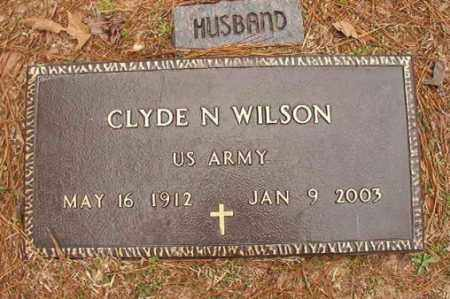 WILSON (VETERAN), CLYDE N - Columbia County, Arkansas | CLYDE N WILSON (VETERAN) - Arkansas Gravestone Photos