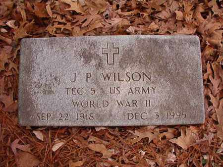 WILSON (VETERAN WWII), J P - Columbia County, Arkansas | J P WILSON (VETERAN WWII) - Arkansas Gravestone Photos